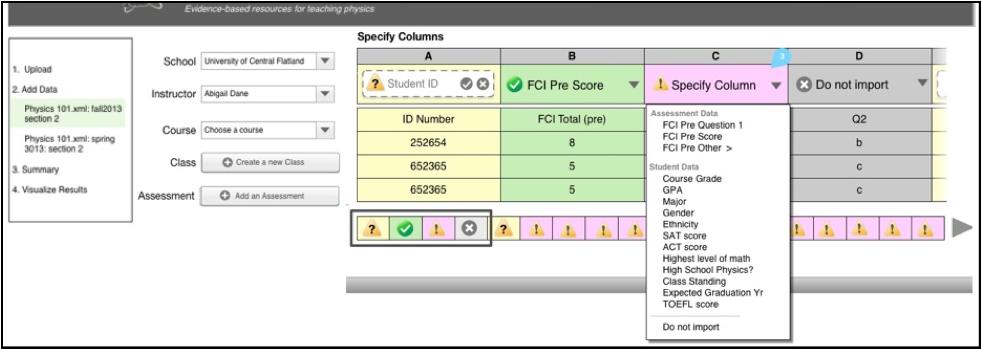 Screenshot of uploader tool